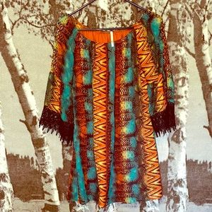 Bright patterned tunic